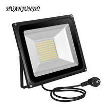 New 100W SMD LED Floodlight With EU Plug AC220V 7000lms LED