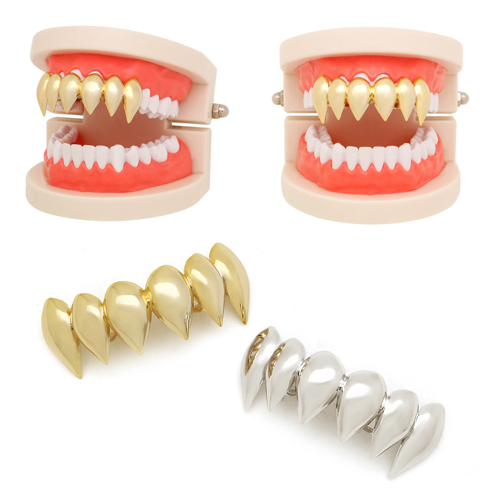 1Pcs Hip Hop Teeth Grillz Top Mouth Teeth Grills Fashion Removable Dental Grills Jewelry
