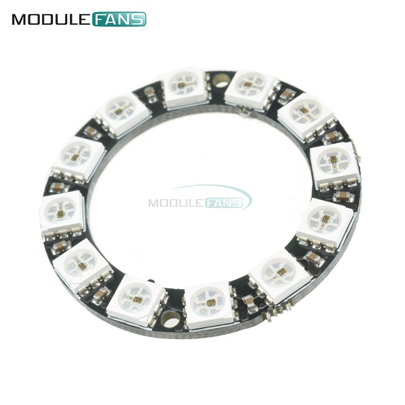 rgb led ring 12 bits ws2812 ws2812b 5050 rgb led spot integrated driver control serial module