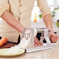 Household Manual Rotary Slicer Radish Potato Vegetable Shredder Multifunctional Shredding Machine With 3 Thickness Blade