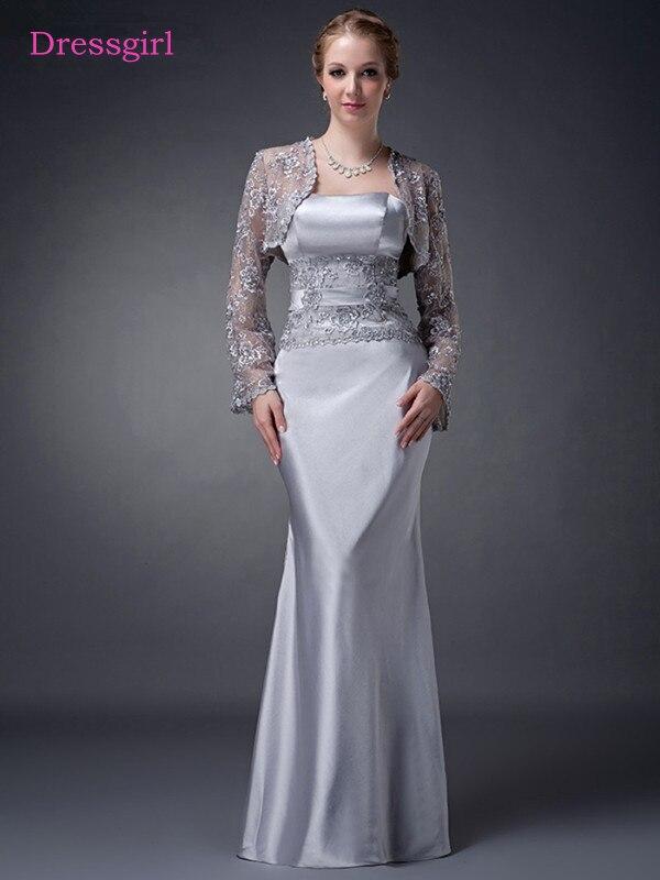 Gray 2019 Mother Of The Bride Dresses Sheath Floor Length Taffeta Lace Plus Size Long Elegant Groom Mother Dresses Wedding