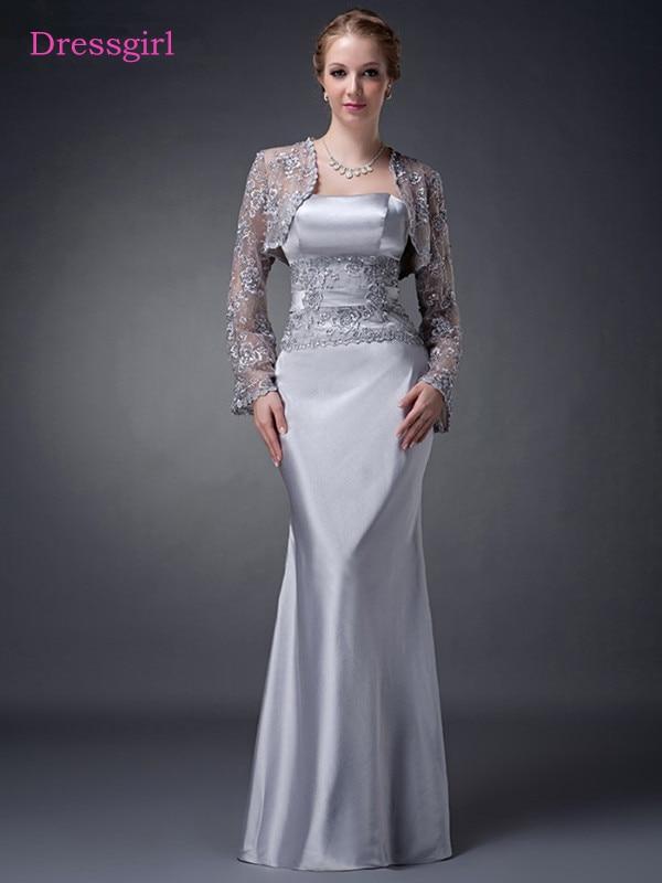 Gray 2019 Mother Of The Bride Dresses Sheath Floor Length