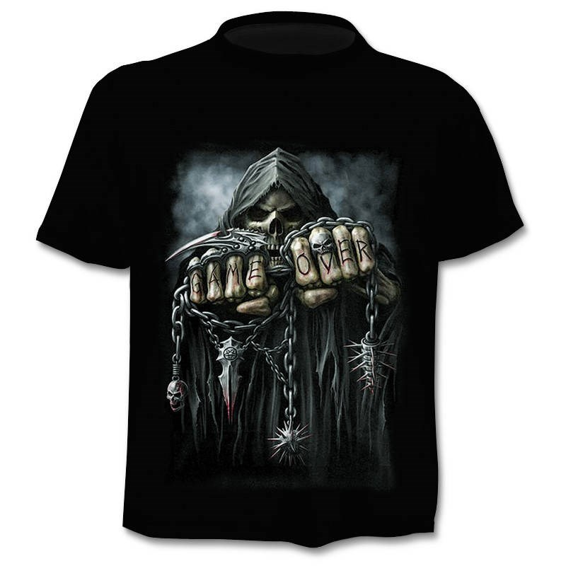2019 Mens Skull T Shirts Brand Punk Style Finger Skull 3dt- Shirts Men Tops Hip Hop 3d Print Skull Punisher T-shirt Dropshipping