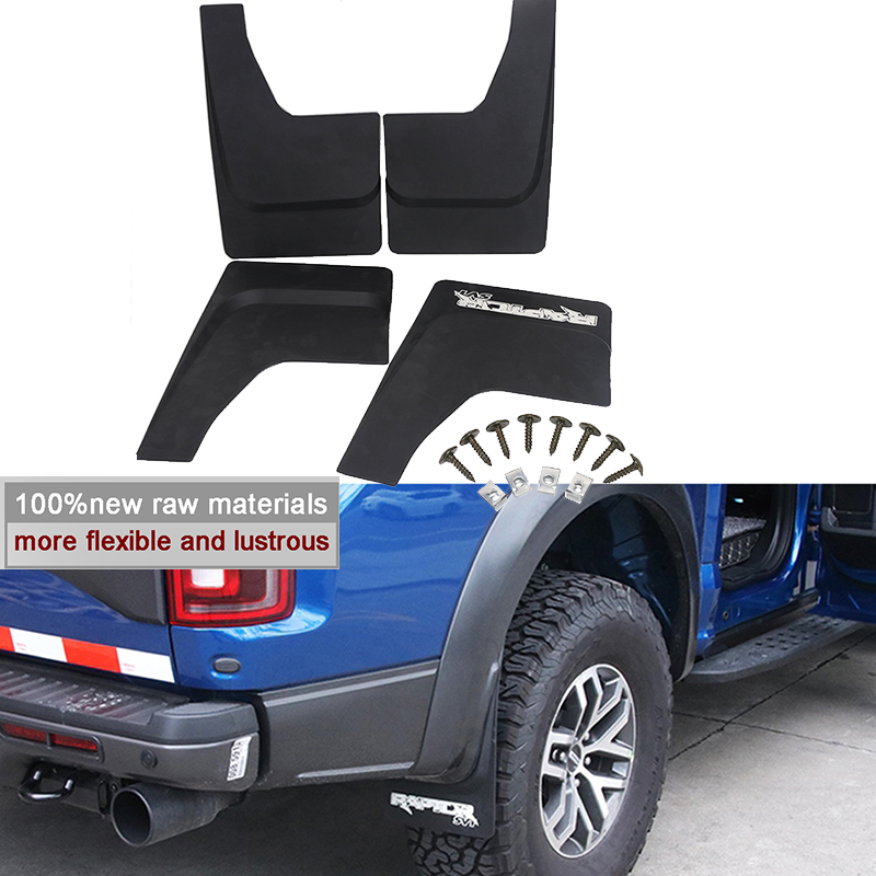 Car Front Rear Mudguards Mud guards Mudflaps Fender Splash Guards For Ford F-150 SVT Raptor Only 2010 2011 2012 2013 2014 fit for jeep patriot deluxe molded mudflaps mud flap splash guard mudguards set free shipping