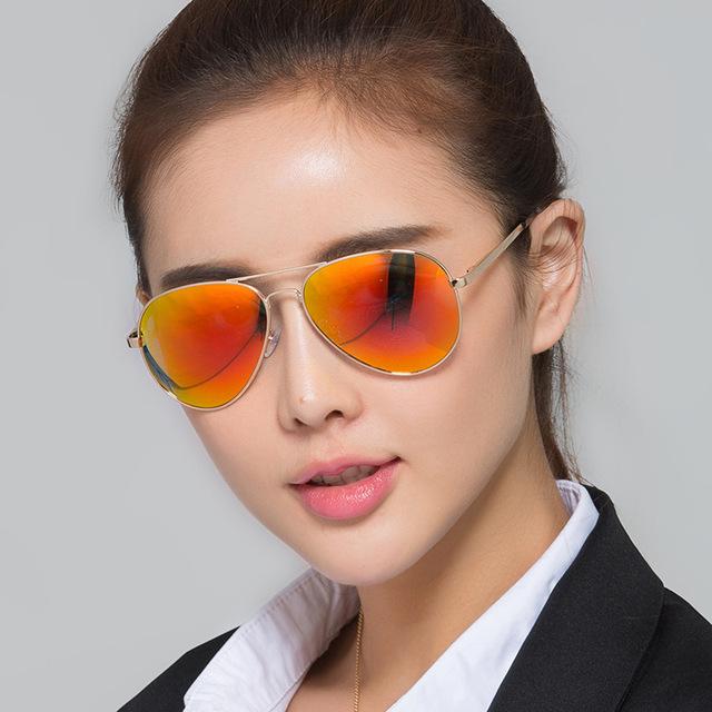 Explosão de Cor Óculos De Sol Óculos de Sol das mulheres Dos Homens Polarizados Óculos de Aviador Motorista Lazer Shades Óculos