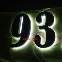 LED Backlit Stainless Steel House Numbers Sign