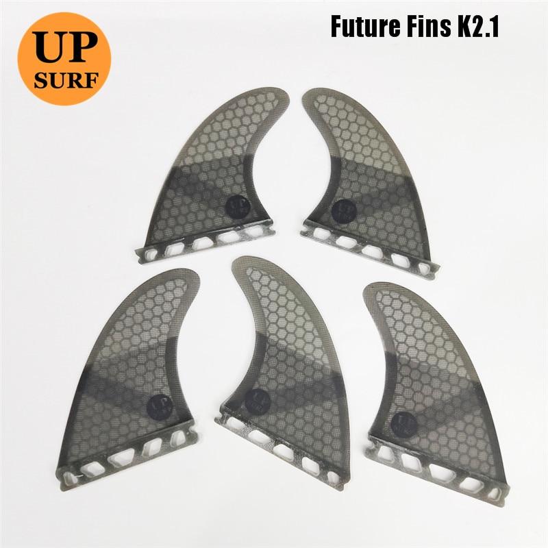Nouveau Design Upsurf futur aileron K2.1 palmes de planche de surf en fibre de verre nid d'abeille Tri-Quad ailerons Quilhas propulseur 5 aileron ensemble