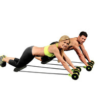 Abdominal Waist Slimming Exercise Machine AB Wheel Core Double AB Wheel Fitness Equipment for Gym Trainer Home Workout Tool