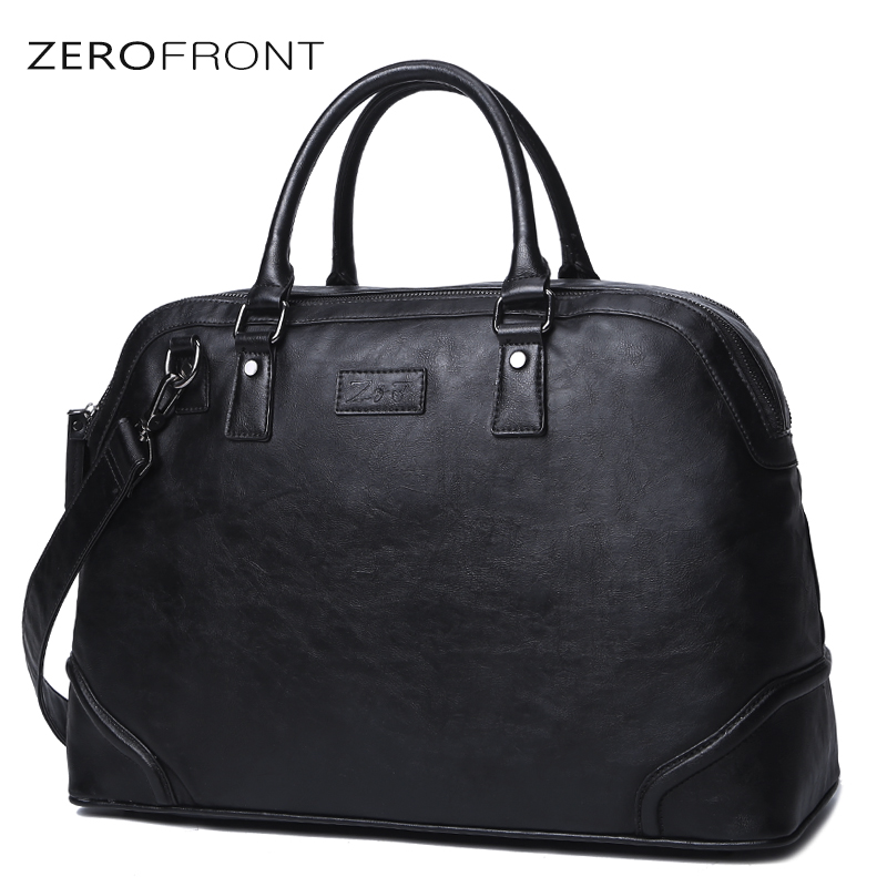 ZEROFRONT 2018 New Fashion Male Commercial Briefcase Men's Leathers Multifunction Large Capacity 15inch Laptop Bag For Male Bags