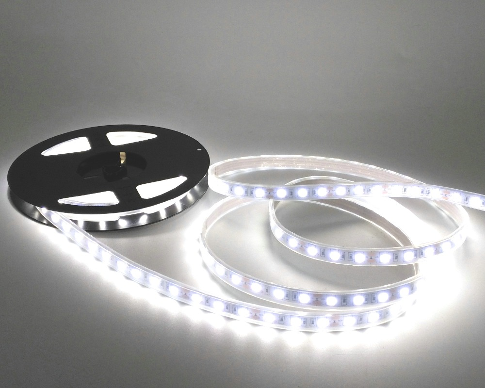 IP67 5050 LED csík DC12V 60 LED / M kiváló minőségű szilikon - LED Világítás - Fénykép 5
