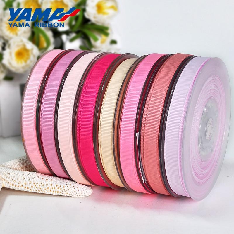 Яма 6 мм 1/4 дюймов ярдов/партия 100 черный белый и красный Grosgrain лента для свадьбы для упаковки подарков Craft ленты