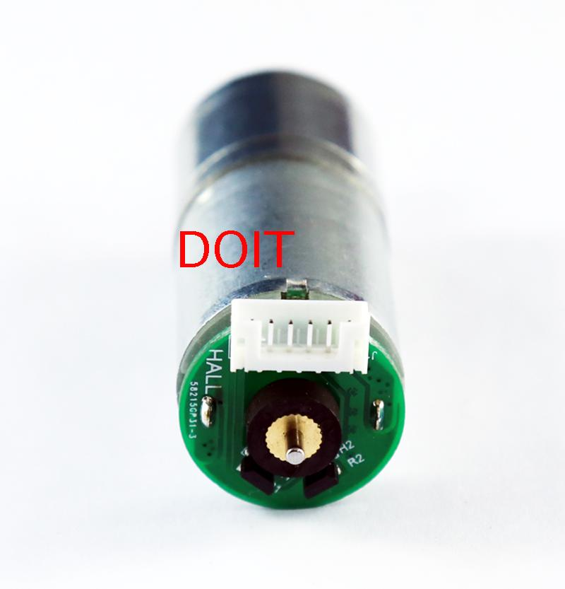 SZDOIT 9V 150rpm With Encoder Motor 25mm DC Geared Motor+Brass coupling For Robot Car Parts