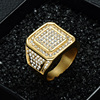 Iced Out Square Crystal Ring 2