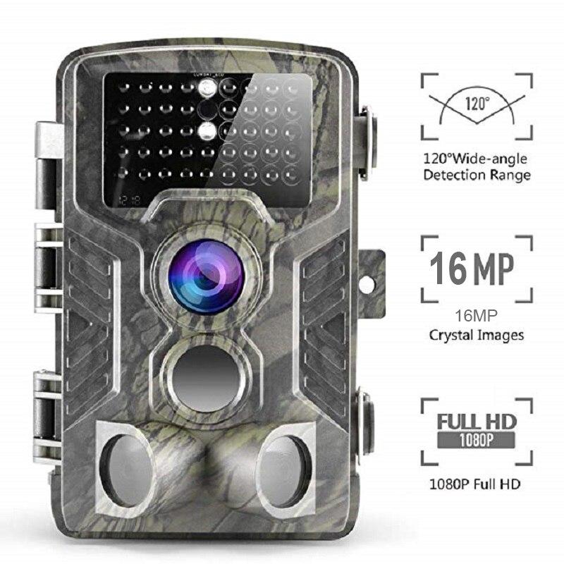 Suntekcam 16MP HC800A trampa de cámara de caza IP65 impermeable noche visión salvaje cámaras foto trampa 940nm ver rastro