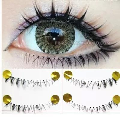 Frete grátis 2014hot sale10Pairs moda feitos à Mão em baixo do olho cílios Falsos Cílios Longos e Grossos Naturais Maquiagem Beleza Saúde
