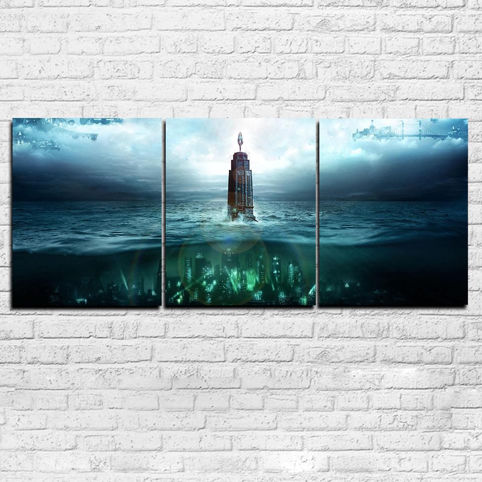 Leinwand Poster Wohnkultur Wandkunst Rahmen 3 Stücke Meeresboden ...