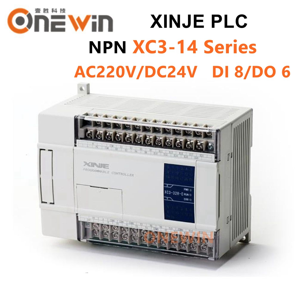XINJE XC3 Series XINJE XC3-14R/T/RT-E/C PLC CONTROLLER MODULE AC220V DI 8 DO 6 Transistor New In Box