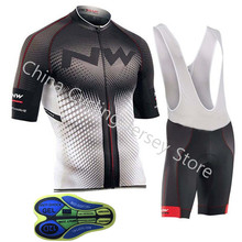 Новый NW Northwave для мужчин Трикотаж нагрудник/шорты для женщин комплект летние дышащие короткий рукав гоночный велосипед Костюмы MTB
