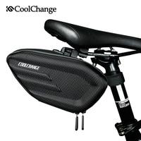 CoolChange Bicycle Saddle Bag Waterproof MTB Bike Rear Bag Reflective Cycling Rear Seat Tail Large Bag