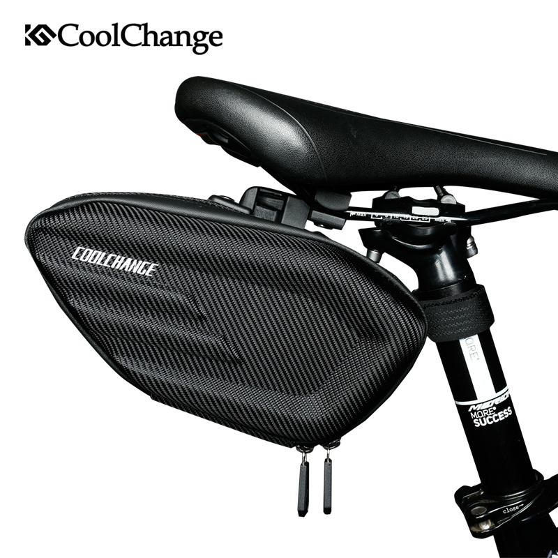 CoolChange Bicycle Saddle Bag Waterproof MTB Bike Rear Bag Reflective Cycling Rear Seat Tail Large Bag Bike Accessories