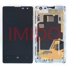 لنوكيا Lumia 1020 RM 875 شاشة الكريستال السائل مجموعة المحولات الرقمية لشاشة تعمل بلمس الإطار استبدال أجزاء