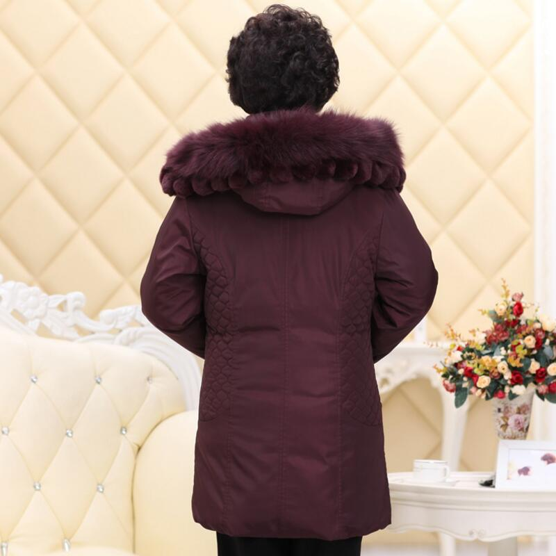 La Col Parka Femmes De Élégante Manteau Long Plus Dark Mince bourgogne Grand Chaud Fourrure 5xl En Red Yp1246 Taille Veste Duvet D'hiver Épais Survêtement dqzwTX