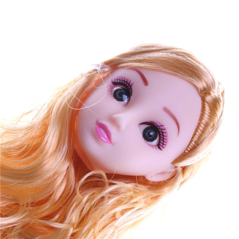 ثلاثية الأبعاد نابض بالحياة رأس العين 1/6 BJD لتقوم بها بنفسك رئيس الاكريليك عيون رئيس nake المفاصل ألعاب الدمى الجسم لفتاة هدية الحاضر للدمية