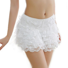 YGYEEG 1Pcs Fashion Summer Women Casual Mid-waist Shorts Sexy Lace Sheer Floral Hollow Out Hot Girl Elastic 8 Floors Shorts 2019 sexy hollow out lace women s shorts