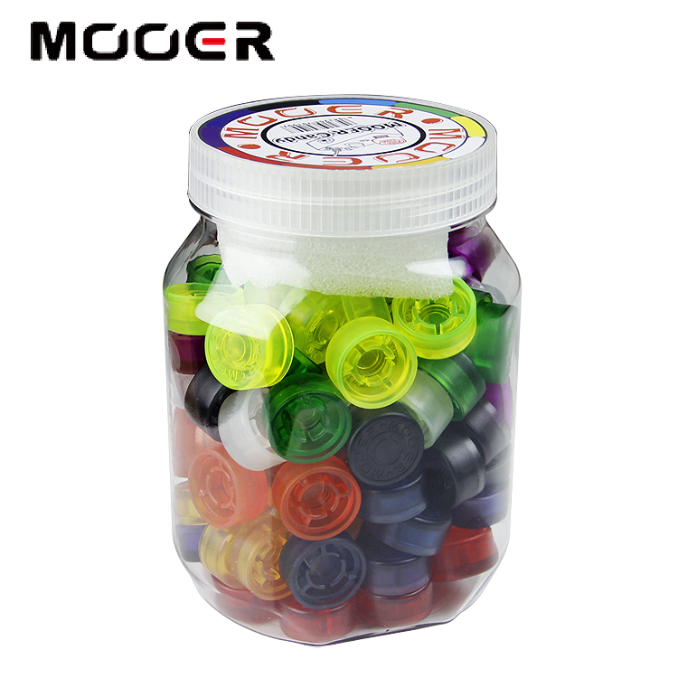 Various styles mutil colors Mooer candy guitar footswitch toppers Guitar accessories 100 piecesVarious styles mutil colors Mooer candy guitar footswitch toppers Guitar accessories 100 pieces