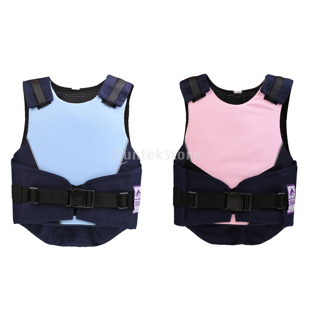 New Adjustable Flexible Body Protective Gear Kids Children Equestrian Horse Riding Vest Blue/Pink 3 Sizes adjustable pro safety equestrian horse riding vest eva padded body protector s m l xl xxl for men kids women camping hiking