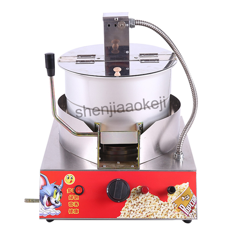 Stainless Steel Popcorn Machine Single Pot Liquefied Gas electric popcorn machine commercial popcorn machine New 1pc american style popcorn machine commercial popcorn machine household appliances automatic stainless steel 310w