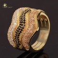 New 2014 18K Real Gold Plated Brass Micro Pave White CZ Lord Big Rings for Men and Women 2014 Fashion Jewelry XYR100799