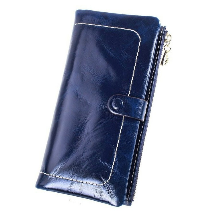 Ladies wallets leather blue