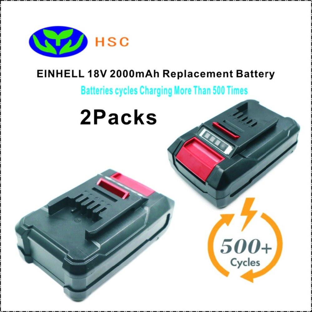 2PCS 18650 Battery Composition EIN18C 2Ah 18V Li ion Battery Pack Replacement EINHEL PXBP 300 PXBP