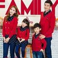 Niños clothing madre e hija ropa familia juego mirada trajes padre hijo bebé camisa de suéteres de navidad de la familia