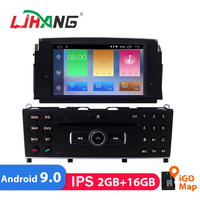 LJHANG 1 Din Android 9.0 Car DVD Multimedia Player For Mercedes Benz C200 C180 W204 2007 2010 GPS WIFI Car Stereo Auto Radio IPS