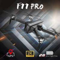 Sjrc F11 Pro Drone Gps avec caméra 2khd Wifi Fpv/F11 2K quadrirotor sans brosse 25 Minutes de temps de vol pliable Dron Vs Sg906