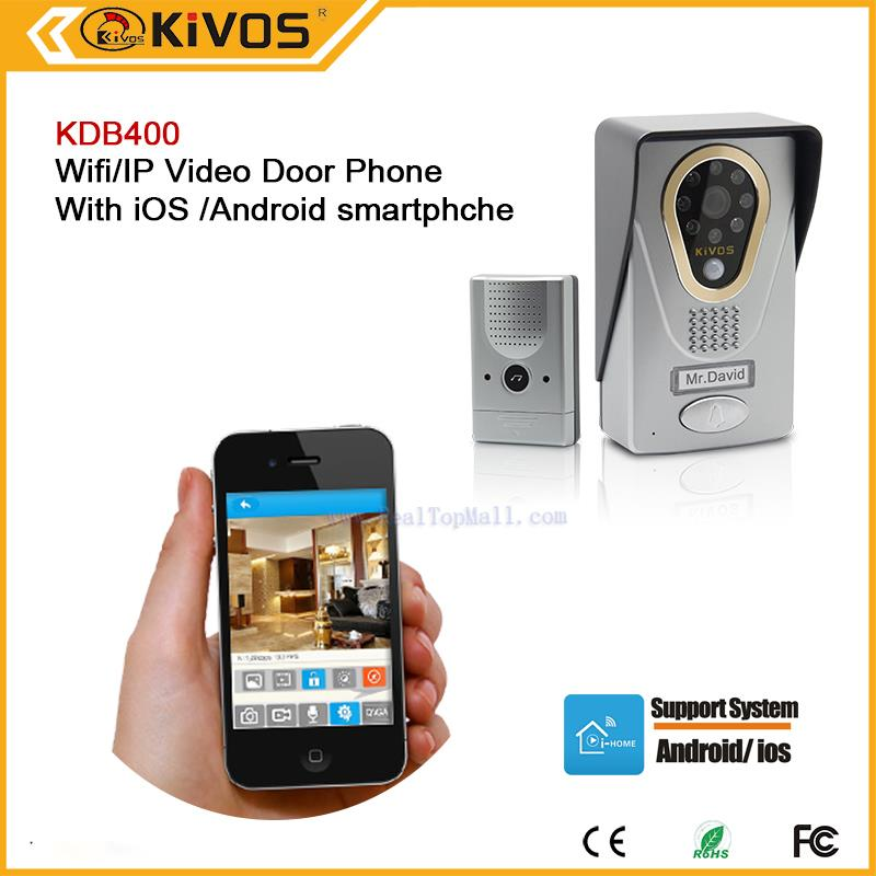 WiFi Video Door Phone Home Security Door Wireless Intercom with 720P iOS and Android font b