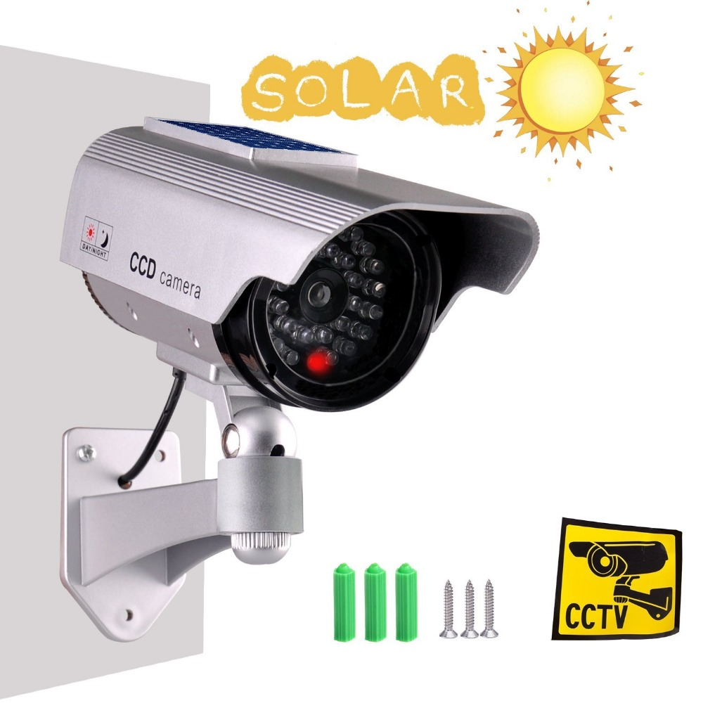 Fake Camera Solar Powered Dummy Camera High Simulation CCTV Camera Home Security Surveillance Camera With Led Red Light FlashingFake Camera Solar Powered Dummy Camera High Simulation CCTV Camera Home Security Surveillance Camera With Led Red Light Flashing