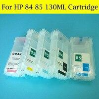 6 pçs/set 130 ml Vazio HP84 30 90 85 Uso do Cartucho De Tinta Recarregáveis Para HP Designjet 130 Impressora Com ARC chip|ink cartridge|refillable ink cartridges|ink cartridge for hp -