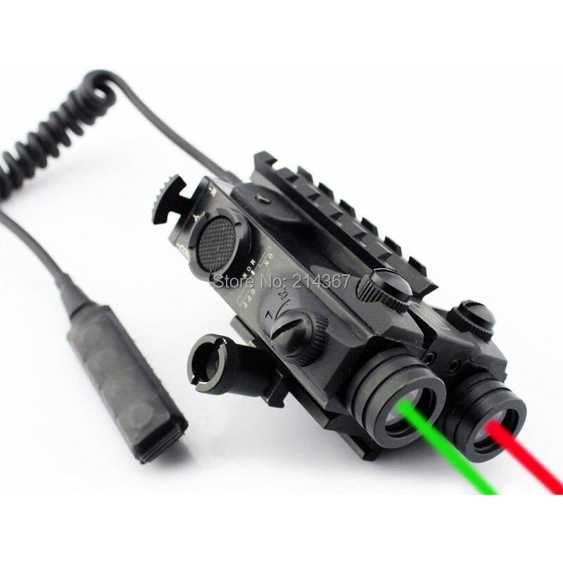 Wildgameplus GR Double viseur optique Laser 2in1 designateur 660nM Laser rouge jeu sauvage chasse fusil portée Laser visée