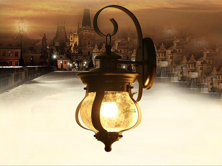 Wall Lights American Country Garden Outdoor Patio Lamp Wall Lamp Waterproof  Characteristic Iron Wall Garden Lamps