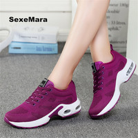 Women Four Seasons Sneakers Women Shoes Running Shoes Leather Net Sport Shoes Air Damping Outdoor Arena