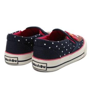 Image 3 - Girls Canvas Shoes 2020 New Spring Children Flats Polka Dot Fashion Kids Sneakers Denim Girls Princess Shoes Casual Footwear