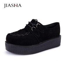 Туфли на толстой мягкой подошве Большие размеры 35–41 женская модная обувь CREEPERS обувь на платформе женские
