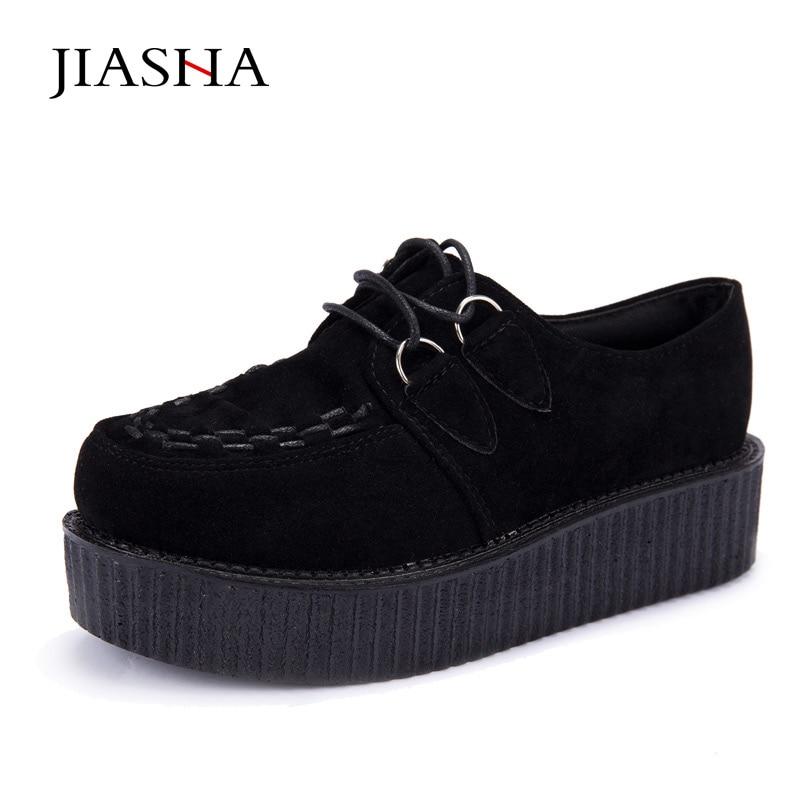 4a24ee488 Trepadeiras sapatos ladies plus size 35-41 2019 moda lace-up de camurça  mulheres luz sapatos trepadeiras plataforma plana sapatos mulher