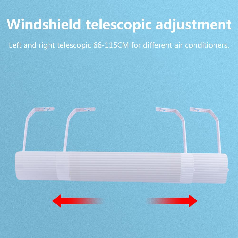 Home Adjustable Air Conditioner Cover Windshield Baffle Deflector Air Conditioning Wind Guide Month Straight Anti-wind Shield