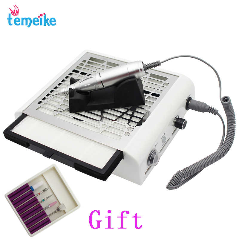 Electric nail drill manicure machine  nail dust collector for Manicure Pedicure with Cutter Nail  Art Ceramic Nail Drill Bits