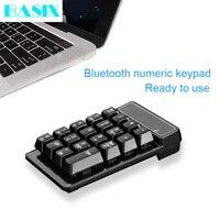 Basix 19 teclas Bluetooth teclado numérico inalámbrico Mini teclado Numpad teclas número Pad teclado Digital para PC tareas de cuenta teclado Teclados Ordenadores y oficina -