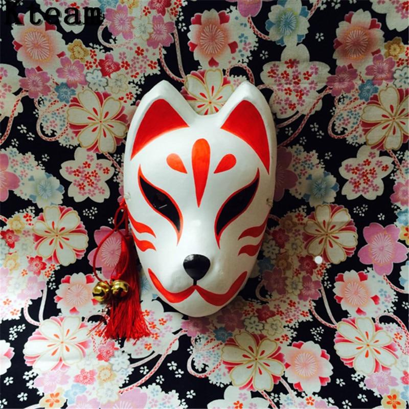 2018 Top Grade Full Face Hand Painted Hotarubi no Mori e Cosplay Fox Masks Halloween Cartoon Character Costumes Cat Fox Mask Toy